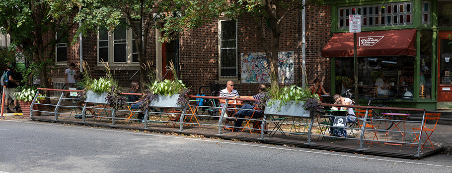 Parklet on Baltimore Avenue, Philadelphia